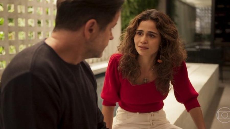 Raul e Érica na novela das 21h da Globo, Amor de Mãe (Foto: Reprodução)