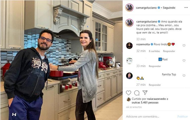 Luciano Camargo e esposa Flávia Camargo (Foto Reprodução/Instagram)