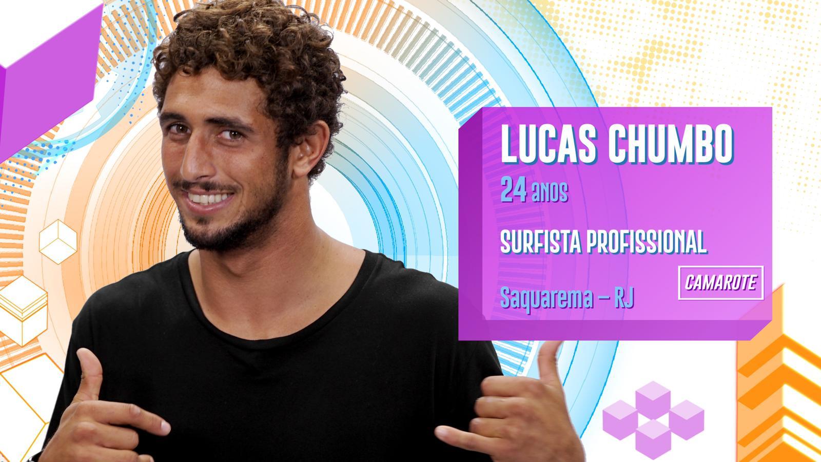 Lucas Chumbo no BBB20 (Foto: Divulgação/ Globo)