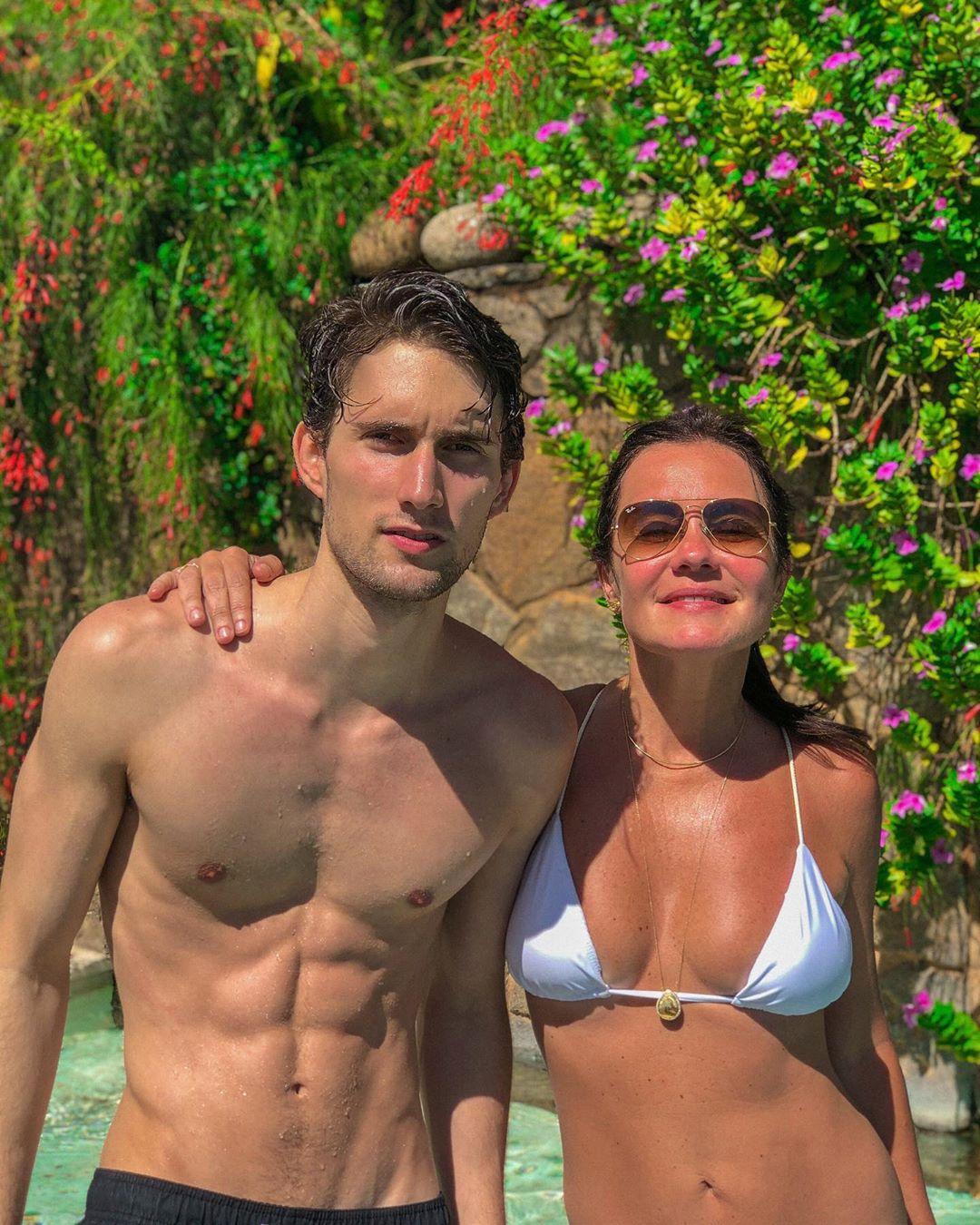 Felipe Ricca e Adriana Esteves (Foto: Reprodução/Instagram)