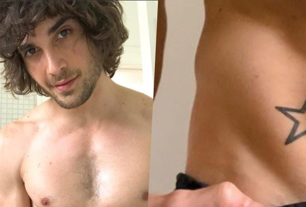 O cantor Fiuk abaixou as calças e mostrou que está com tudo literalmente em dia (Foto montagem: TV Foco)