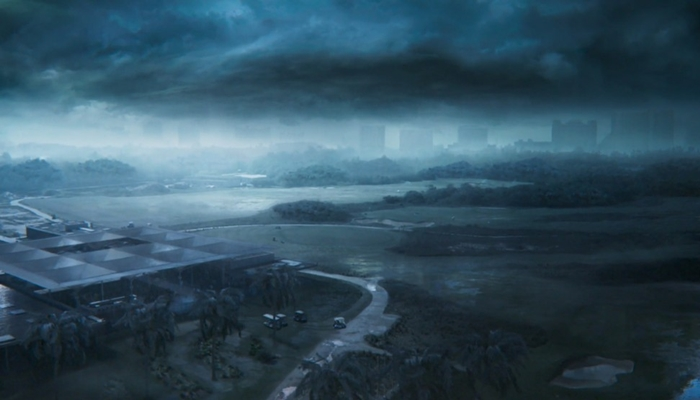 Cena de furacão em Cancún da novela Salve-se Quem Puder (Foto: Reprodução/Globo)