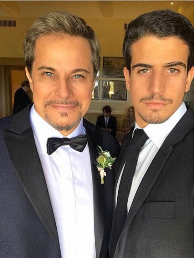 Edson Celulari e Enzo Celulari (Foto: Reprodução/Instagram)