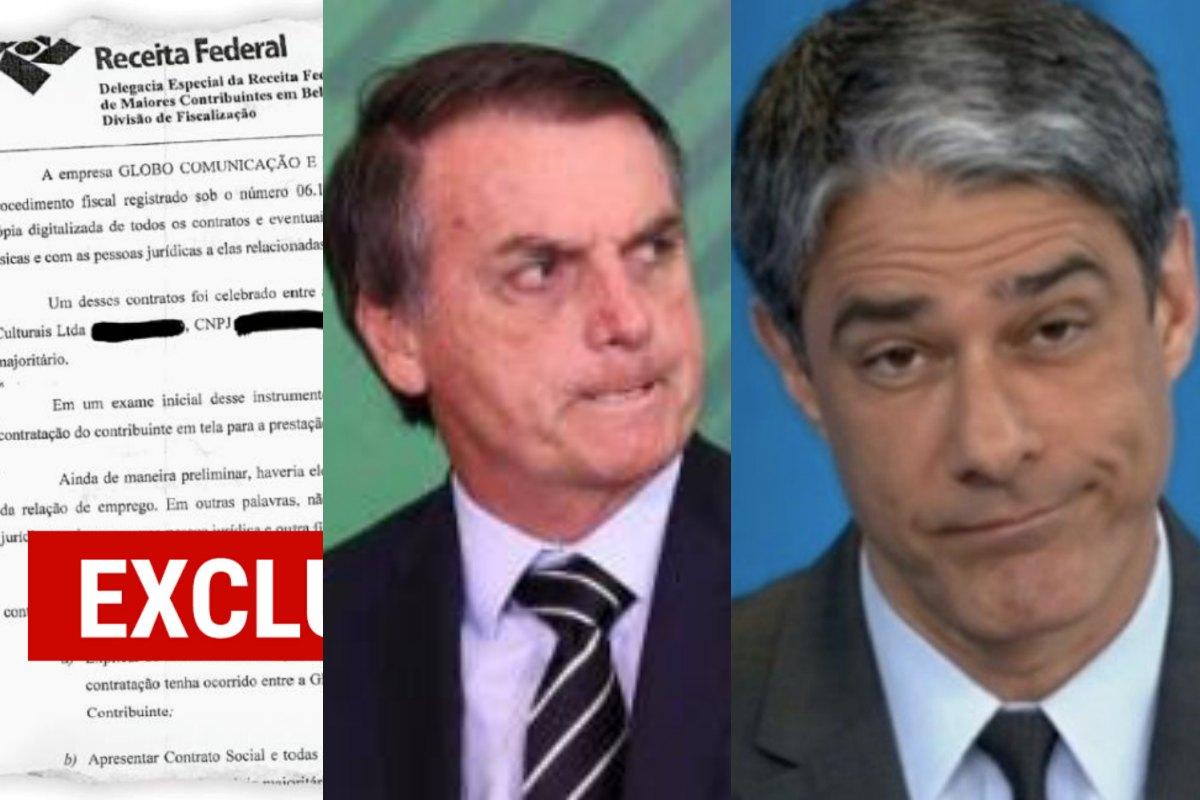 Globo vira alvo de investigação da Receita Federal após ataque de Jair Bolsonaro. Foto: Reprodução