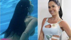 Graciele Lacerda virou destaque ao surgir com o bumbum em evidência. Foto: Reprodução