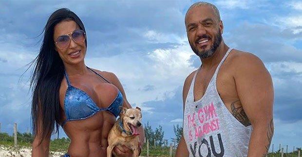 Gracyanne Barbosa sonha em ter um filho com Belo (Foto: Reprodução)