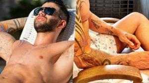 O cantor Gusttavo Lima chocou todo mundo ao aparecer de calção com novo visual (Foto reprodução)