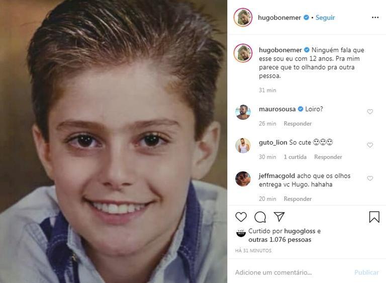O sobrinho de William Bonner surpreendeu os seguidores com a mudança; veja (Foto: Reprodução/Instagram)