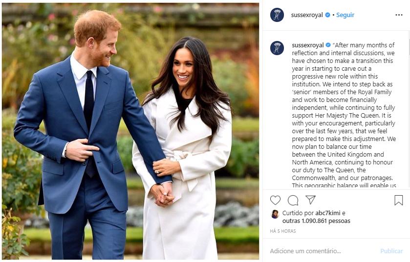 Publicação compartilhada no Instagram oficial do casal (Foto: Reprodução)