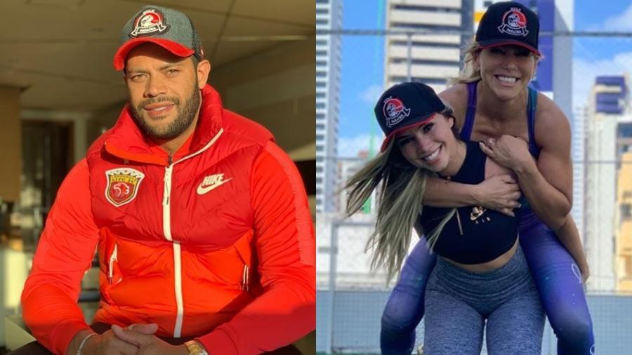Hulk Paraíba trocou Iran Ângelo pela sobrinha Camila Ângelo. Foto: Reprodução