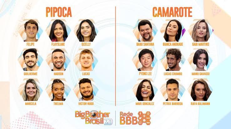 Participantes do Big Brother Brasil 20. Foto: Reprodução