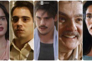 Inês, Carlos, Alfredo, Afonso e Lola personagens de Éramos Seis da Globo