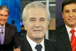 William Bonner, Celso Freitas e Carlos Nascimento tem salários divulgados e valor impressionou (Foto: Reprodução)