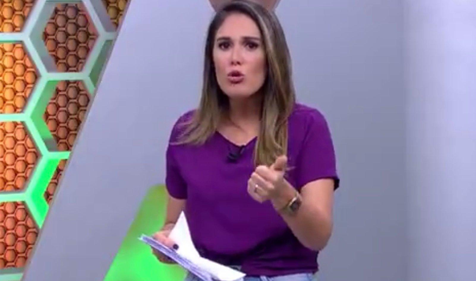 Kelly Costa é a apresentadora do Globo Esporte no Rio Grande do Sul (foto: reprodução/RBSTV)
