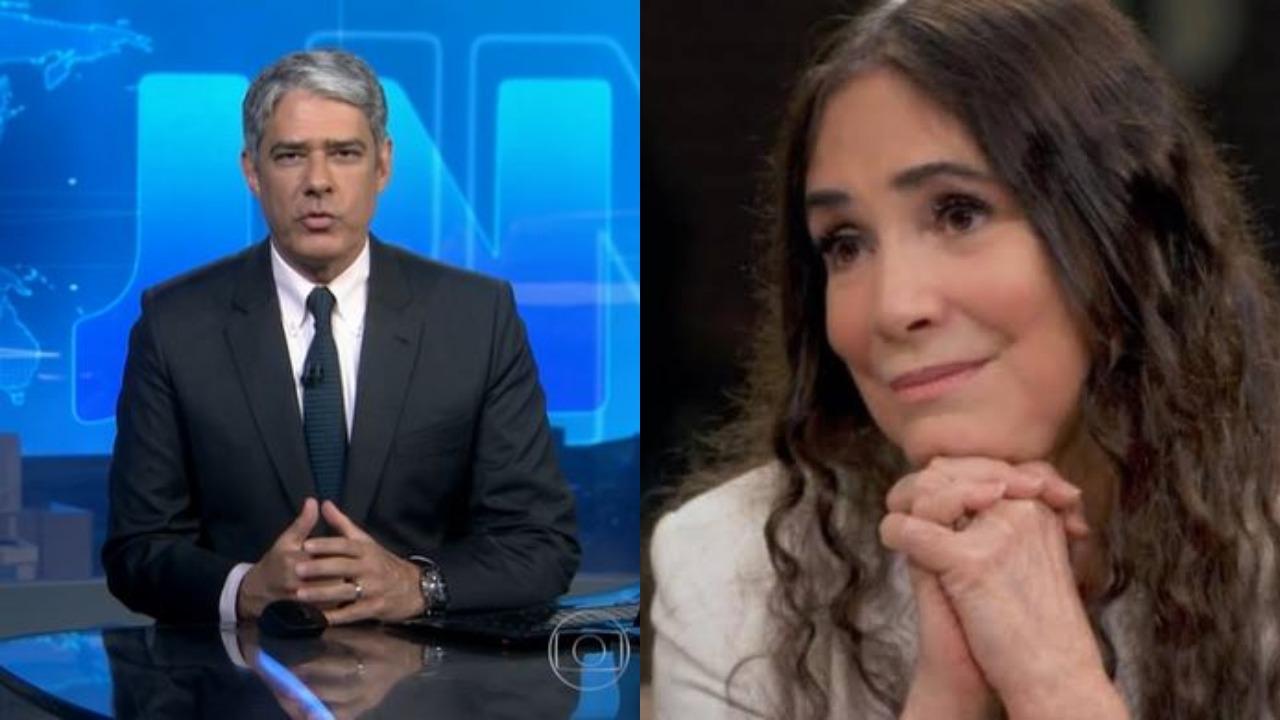 William Bonner e Regina Duarte (Foto: Reprodução/TV Globo/Montagem TV Foco)