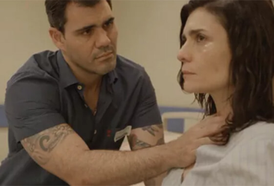 Magno e Leila em cena da novela Amor de Mãe (Foto: Reprodução)