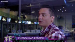 Leo Dias comemora chegada na RedeTV! e mostra os bastidores do canal (Foto: Reprodução)