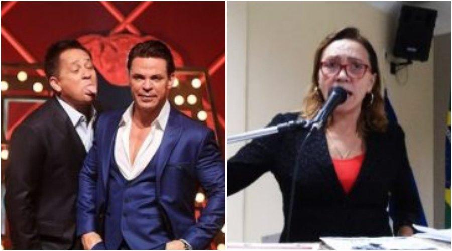 Vereadora detona Leonardo por fazer show embriagado. Foto: Reprodução sertanejo cantor