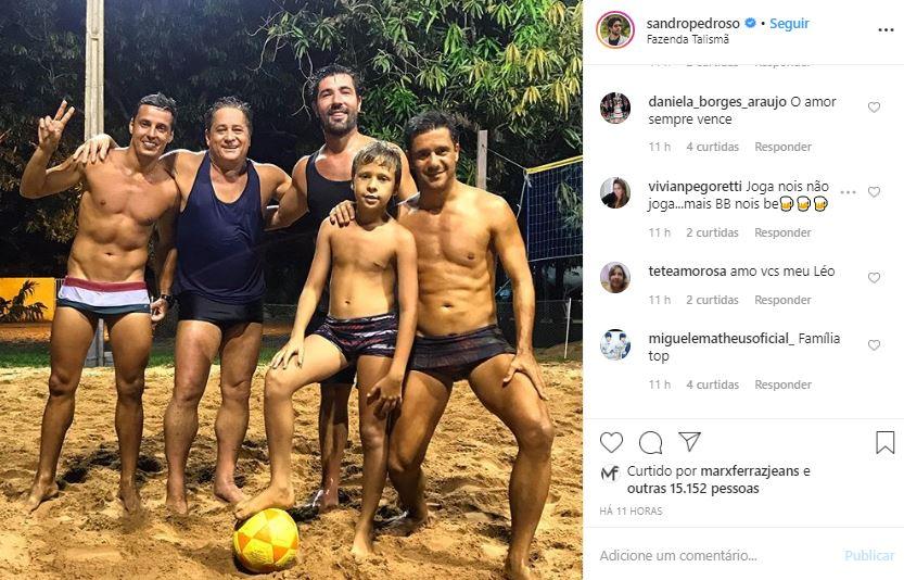 Fizeram as pazes! Sandro Pedroso e Leonardo fizeram as pazes depois de anos sem se falar (Foto: Reprodução/Instagram)