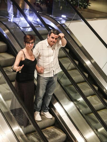 globo Lídia e Cássio juntos em shopping (Foto: AgNews)