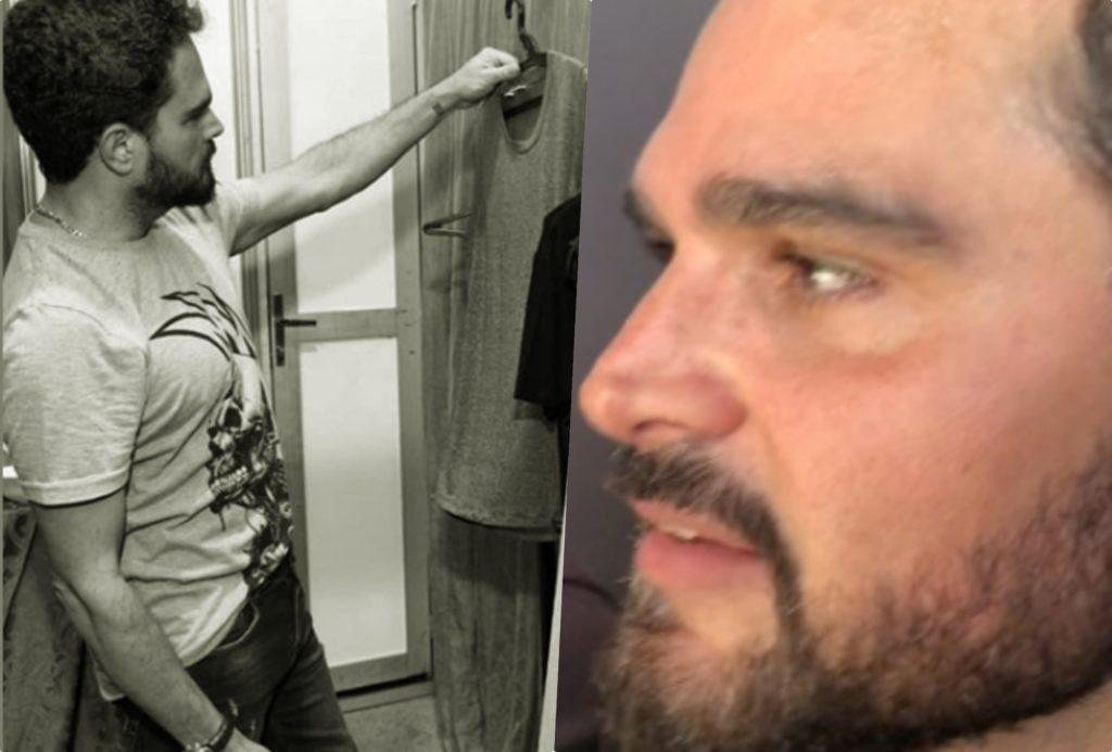 O cantor Luciano Camargo, da dupla com Zezé, publicou foto, teve detalhe íntimo à mostra (Foto montagem: TV Foco)
