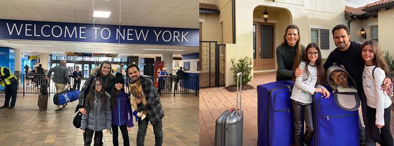 O cantos Luciano Camargo chega nos Estados Unidos junto com família para aproveitar as férias (Imagem: Instagram)