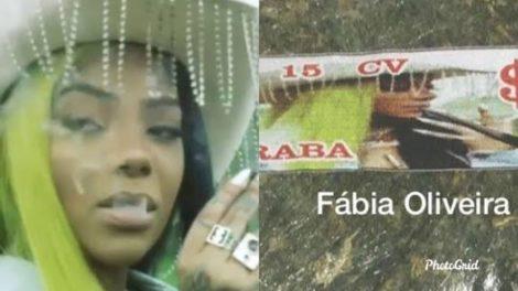 Ludmilla estampa lote de maconha no Rio de Janeiro Imagem: Fábia Oliveira)