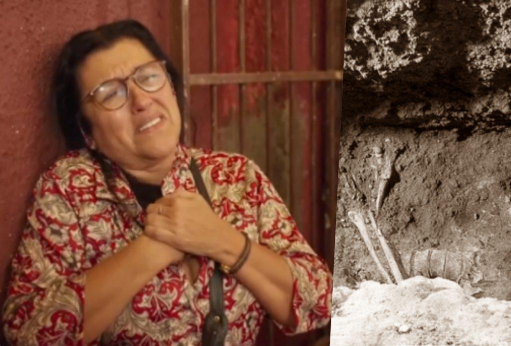 Amor de Mãe: Lurdes desenterra corpo do filho e faz descoberta (Foto reprodução)