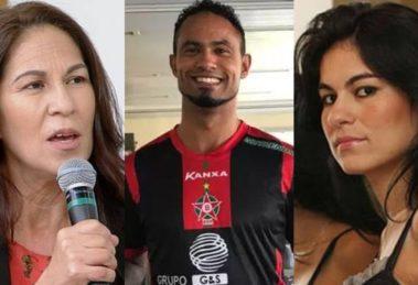 Sonia Moura, mãe de Eliza Samúdio, detonou o goleiro Bruno (Foto: Reprodução/RedeTV!/Instagram/Montagem TV Foco)