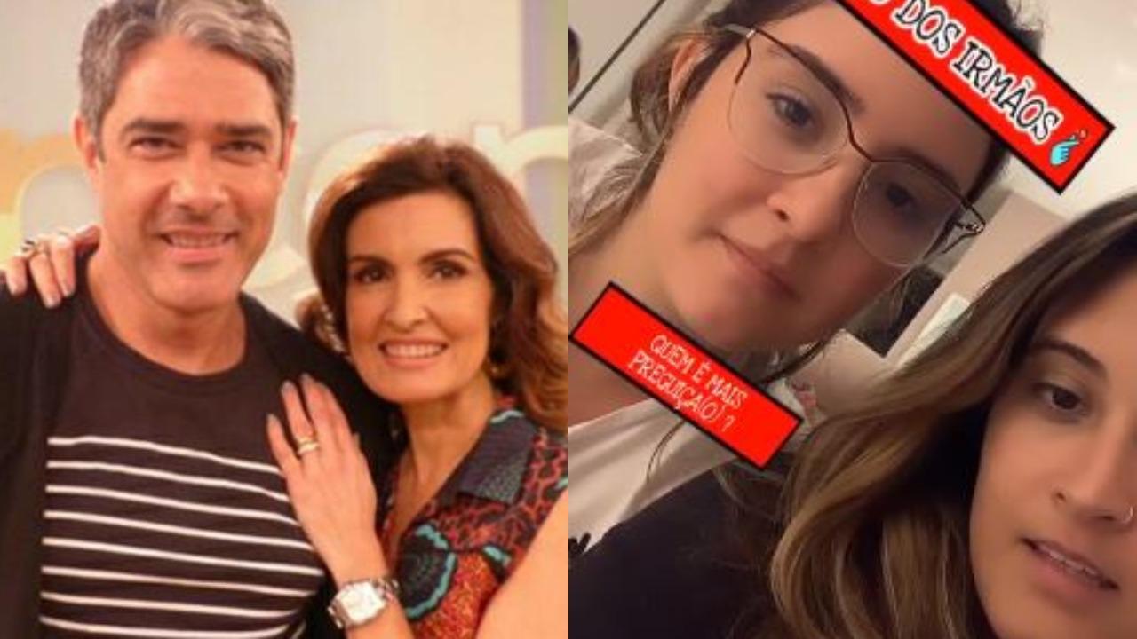Filhas de William Bonner e Fátima Bernardes, Laura e Bia fizeram revelações divertidíssimas (Foto: Divulgação/TV Globo/Reprodução/Instagram)