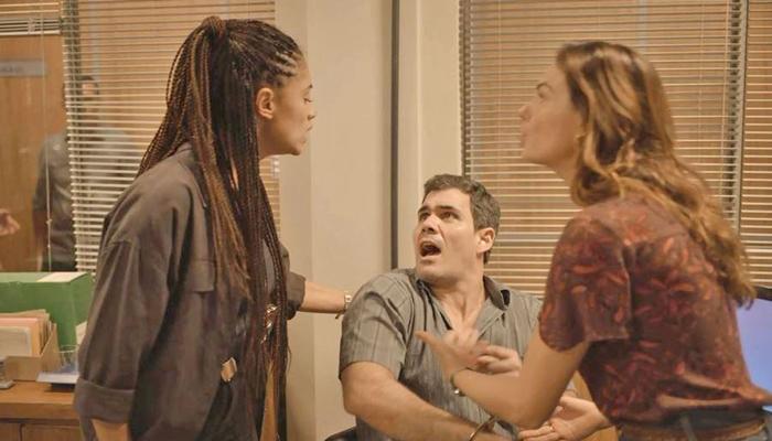 Magno é preso pela morte de Vicente em Amor de Mãe (Foto: Reprodução/Globo)