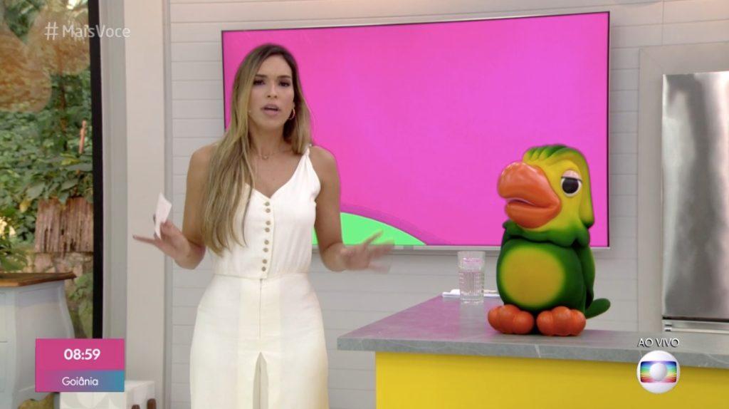 Ana Maria falta do Mais Você por conta do câncer e Talitha Morete substitui apresentadora. Foto: Reprodução