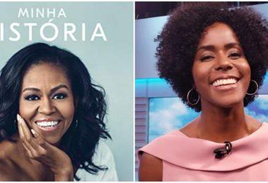 Maju Coutinho narra a biografia de Michelle Obama no Brasil (Reprodução) globo