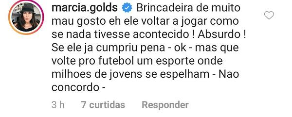 Márcia detona possível contratação do goleiro Bruno por time da Bahia (Foto: Reprodução)