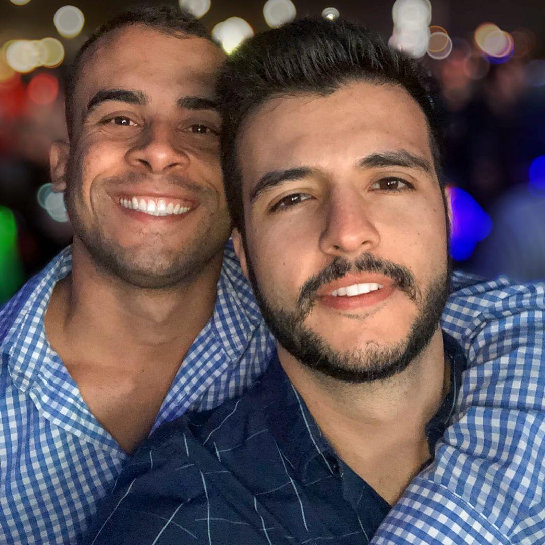 Matheus Ribeiro compartilhou um clique ao lado de Yuri Piazzarollo e gerou uma curiosidade inconveniente de um internauta (Foto: Reprodução/Instagram)