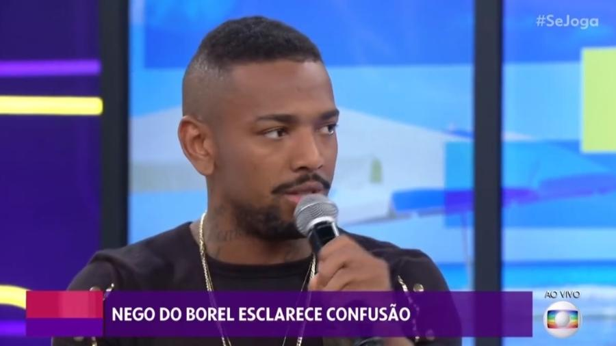 Nego do Borel esclarece confusão no programa Se Joga da TV Globo (Foto: Reprodução)