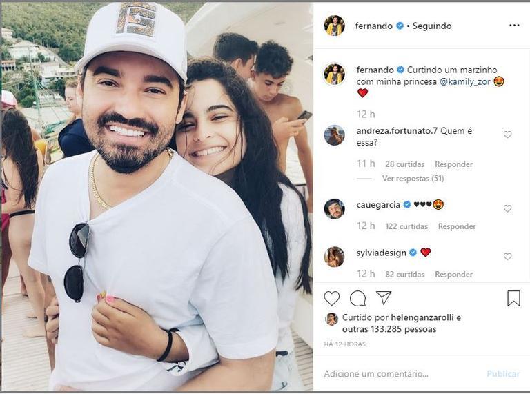 O sertanejo surgiu novamente nas redes sociais, ao lado da filha, após término com Maiara (Foto: Reprodução)