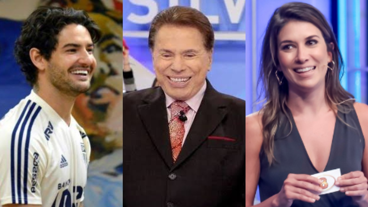 Alexandre Pato, Silvio Santos e Rebeca Abravanel (Foto: Reprodução/SBT/Montagem TV Foco)