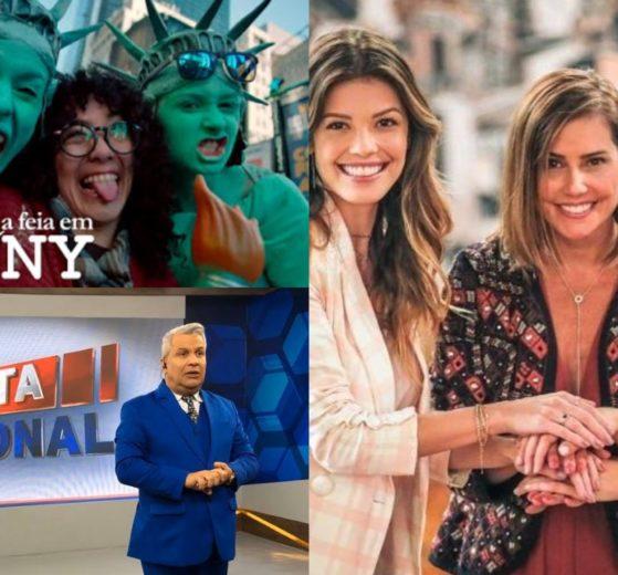 Sikêra Júnior no Alerta Nacional, Betty a Feia em Nova York e Salve-se Quem Puder foram destaques de audiência (Foto: Reprodução/SBT/RedeTV!/TV Globo/Montagem TV Foco)