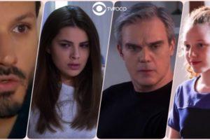 Marcelo, Luísa, Pendleton e Ester personagens de As Aventuras de Poliana
