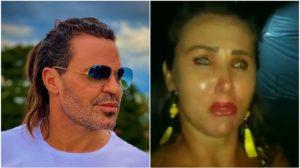 Eduardo Costa foi exposto por uma fã em vídeo (Foto: Reprodução)