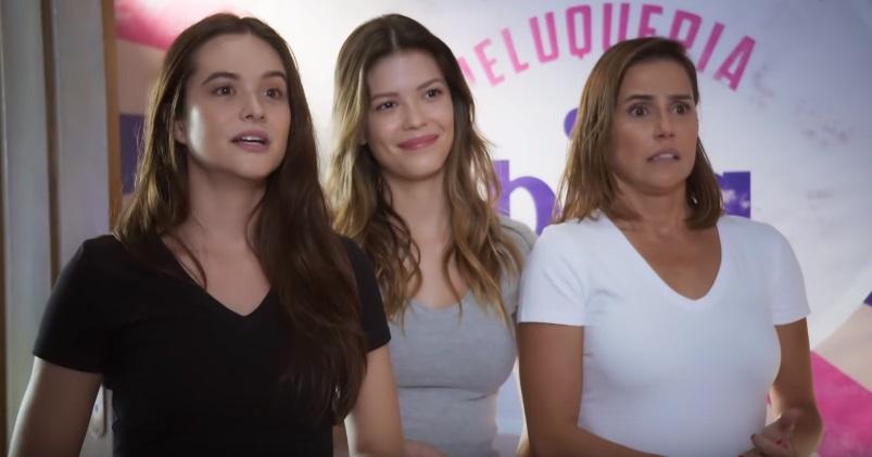 Luna, Kyra e Alexia na novela Salve-Se Quem Puder (foto: divulgação/TV Globo)