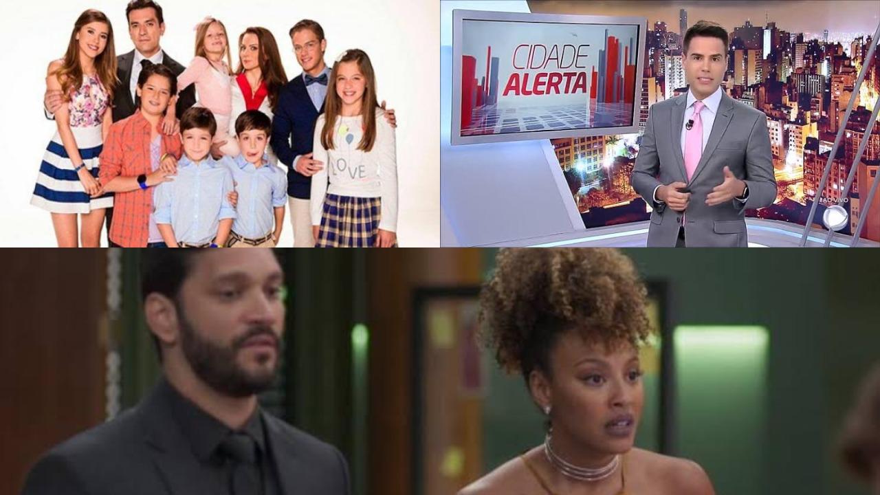 Meu Coração é Teu, Cidade Alerta e Bom Sucesso (Foto: Divulgação/SBT/Record/TV Globo/Montagem TV Foco) audiência