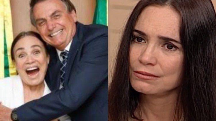 Regina Duarte almoça em bandeijão de Brasília (Montagem: TV Foco)