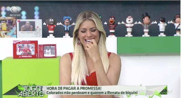Renata Fan é sucesso a frente do Jogo Aberto. Foto: Reprodução