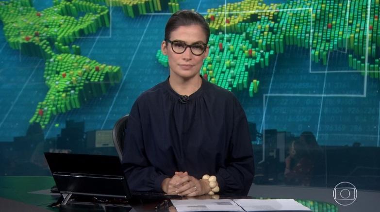 Renata Vasconcellos é uma das âncoras do Jornal Nacional