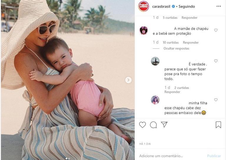 Sabrina Sato e Zoe na praia; fãs comentam a foto (Reprodução/Instagram)