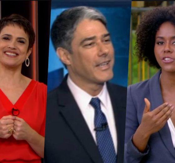 William Bonner, Maju e Sandra Annenberg surgiram com pouca roupa mostrando que são gente como a gente (Foto reprodução)