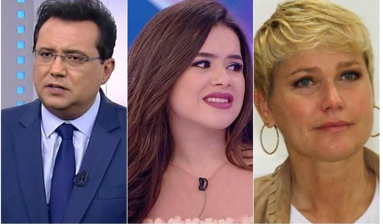 Geraldo Luís, Maísa e Xuxa. Foto: Reprodução vidente