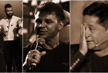 Gusttavo Lima, Leonardo e Eduardo Costa. Foto: Reprodução sertanejo cantor